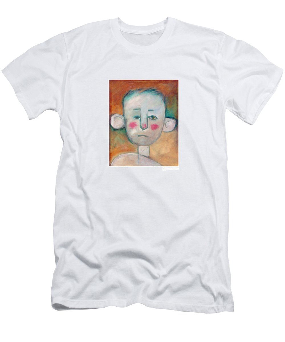 Boy Men's T-Shirt (Athletic Fit) featuring the painting Boy by Tim Nyberg