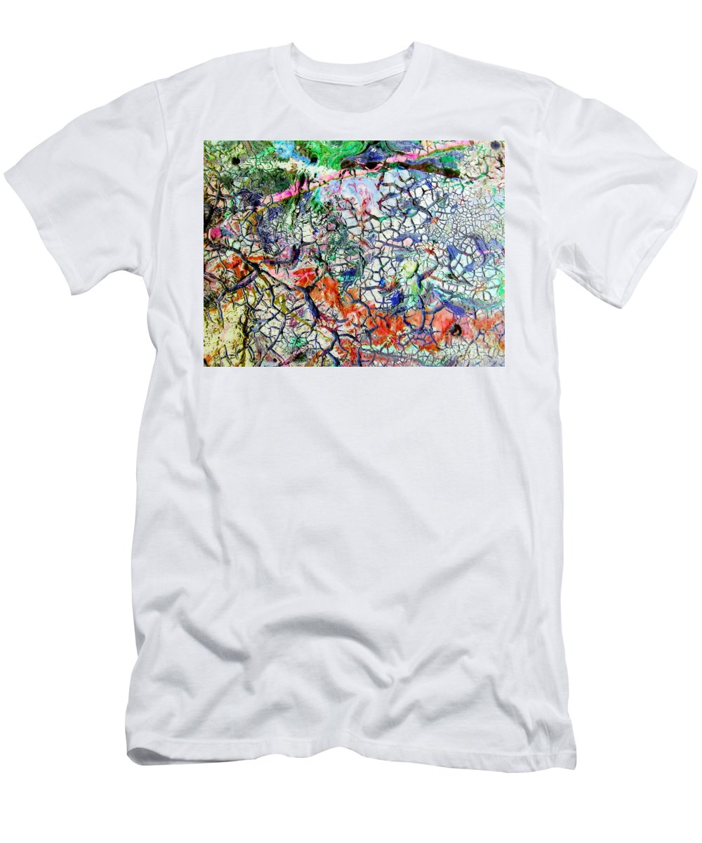 Branches Men's T-Shirt (Athletic Fit) featuring the painting Branches Of Life by Dawn Hough Sebaugh