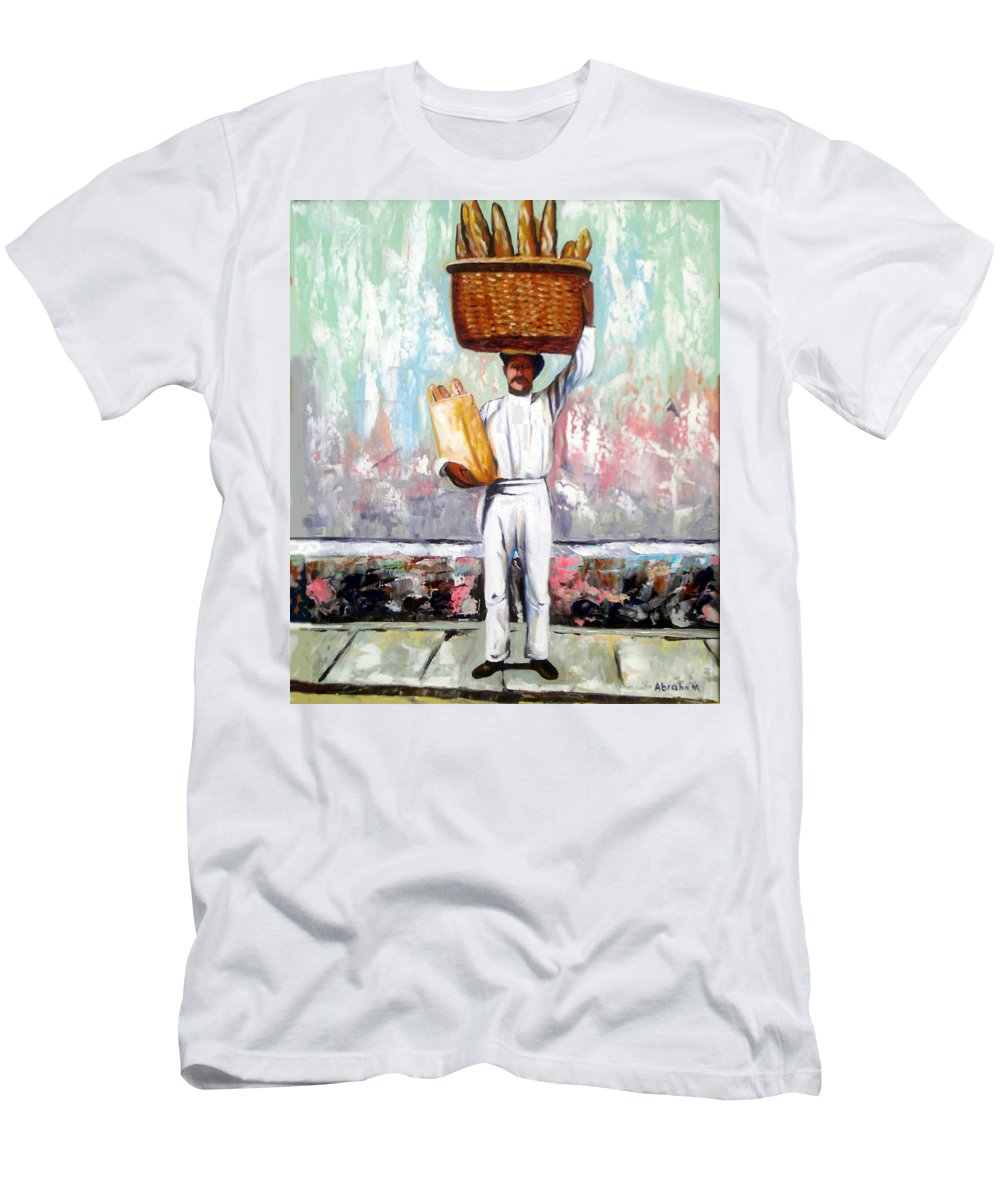 Bread T-Shirt featuring the painting Breadman by Jose Manuel Abraham