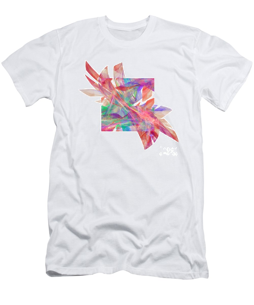 Abstract Men's T-Shirt (Athletic Fit) featuring the digital art Bright Elegance. W by Galina Lavrova