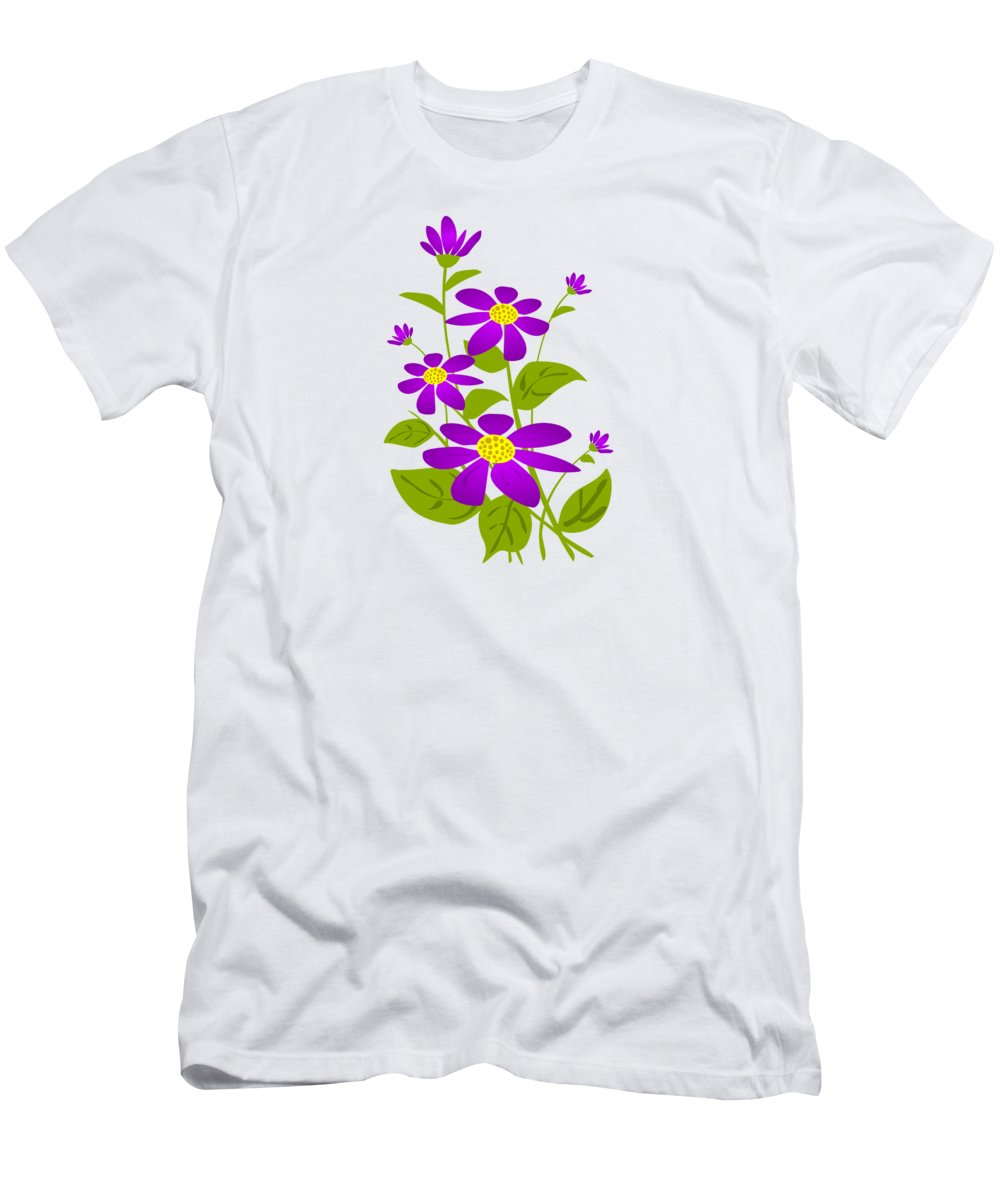 Plant Men's T-Shirt (Athletic Fit) featuring the digital art Bright Purple by Anastasiya Malakhova