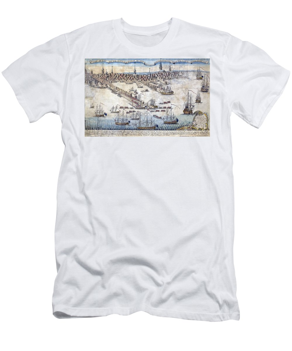 Government Men's T-Shirt (Athletic Fit) featuring the photograph British Ships Of War, Landing Troops by Science Source