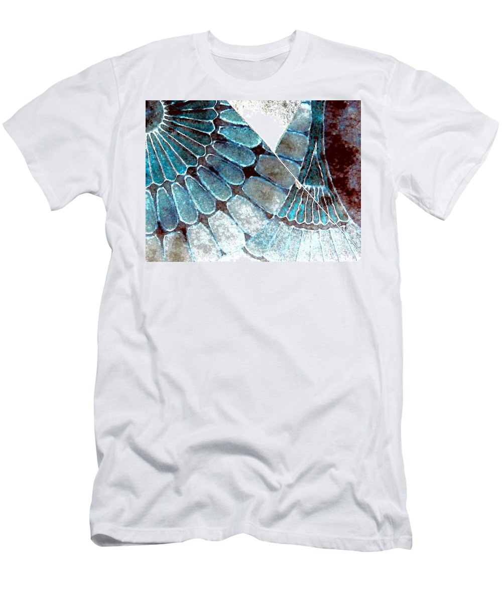 Abstract Men's T-Shirt (Athletic Fit) featuring the photograph Broken 3-2 by Lenore Senior