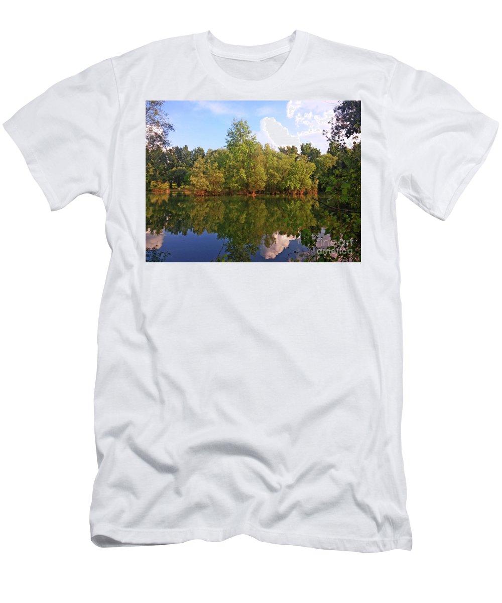 Bundek Men's T-Shirt (Athletic Fit) featuring the photograph Bundek Park Zagreb #2 by Jasna Dragun