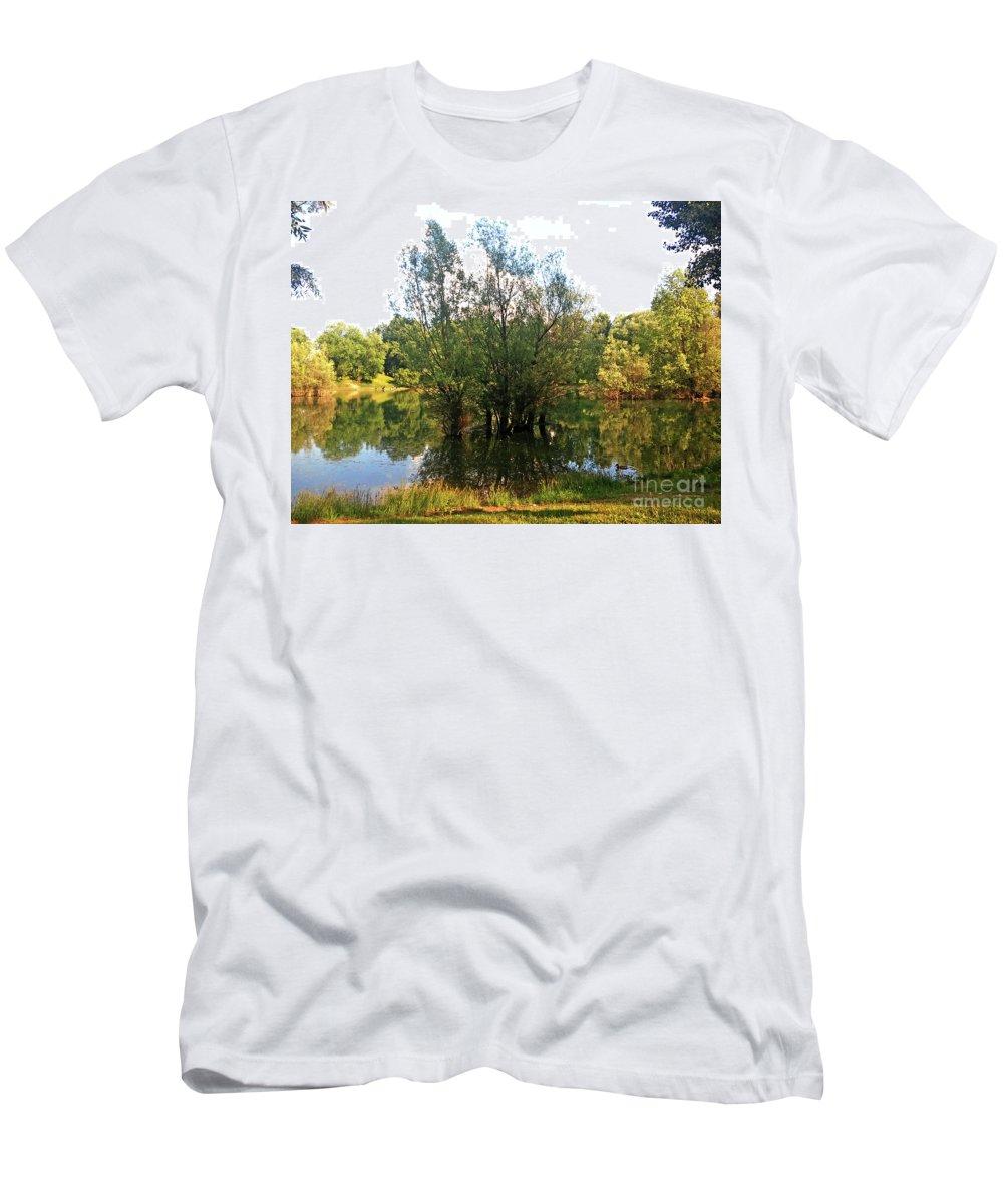 Bundek Men's T-Shirt (Athletic Fit) featuring the photograph Bundek Park Zagreb #3 by Jasna Dragun