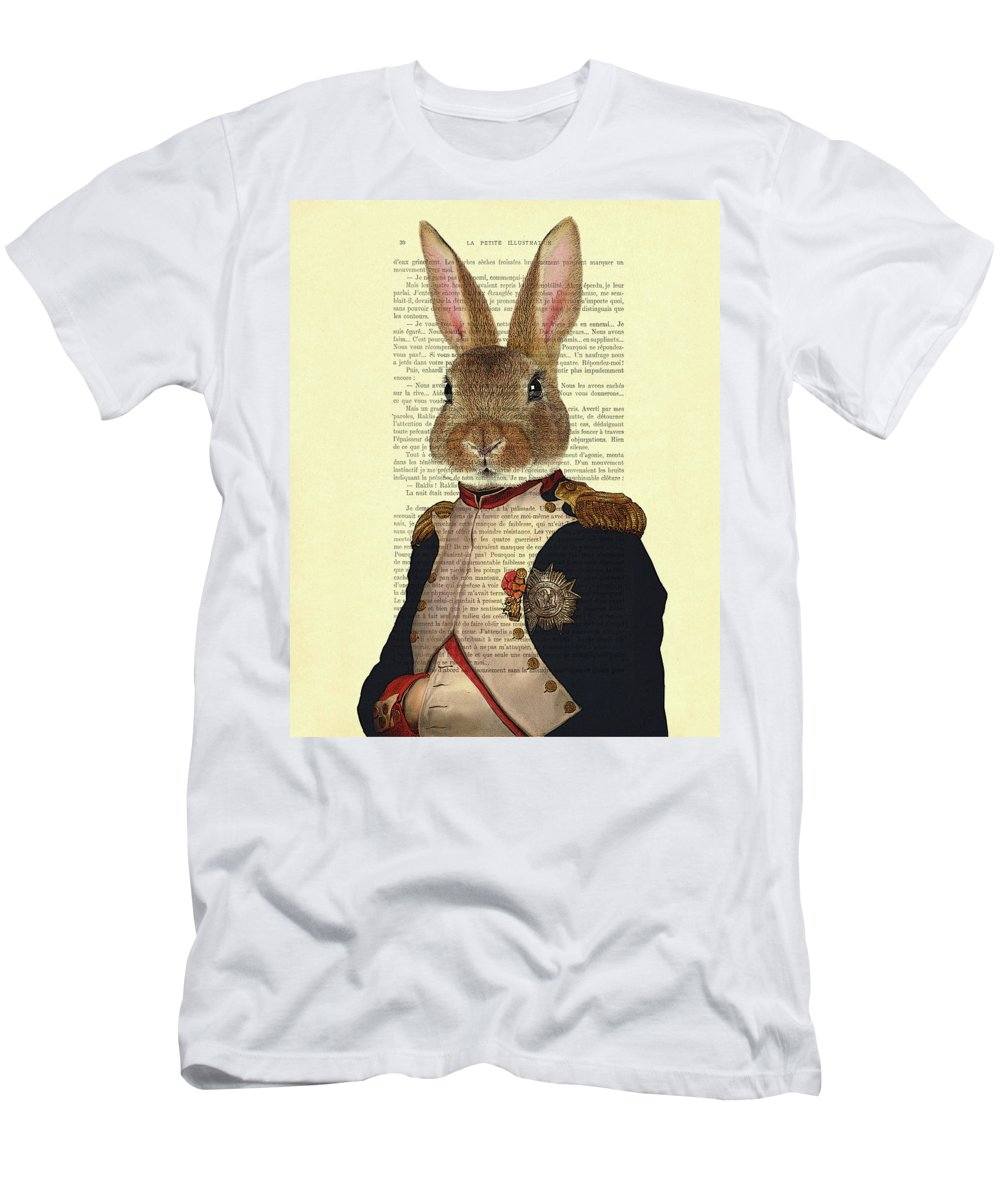 Bunny T-Shirt featuring the digital art Bunny Portrait Illustration by Madame Memento