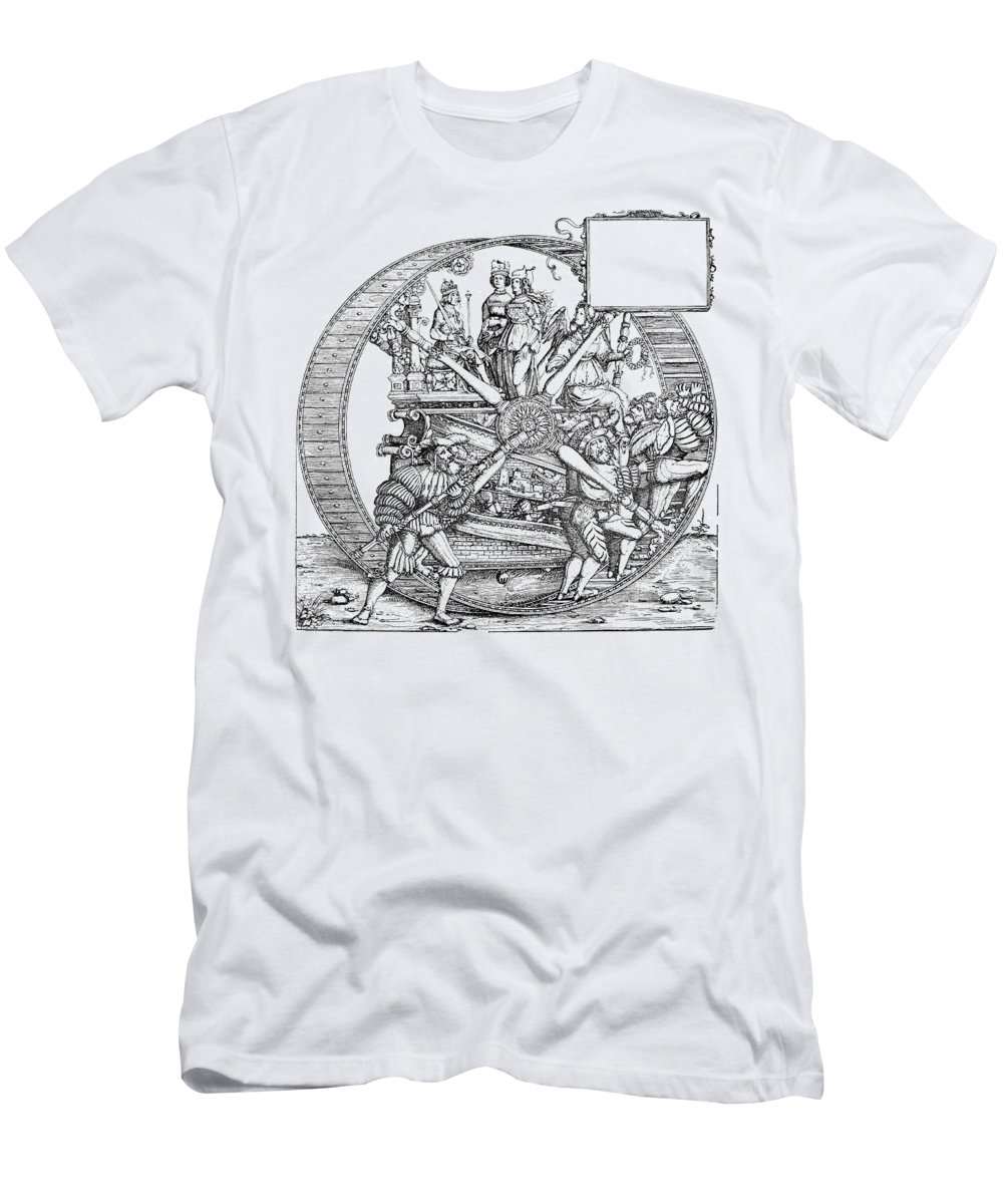 16th Century Men's T-Shirt (Athletic Fit) featuring the drawing Burgkmair - Maximilian by Granger