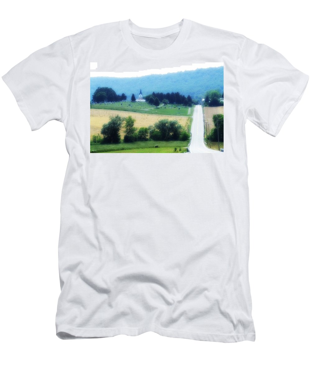 Burkittsville Men's T-Shirt (Athletic Fit) featuring the photograph Burkittsville Maryland by Lisa Victoria Proulx