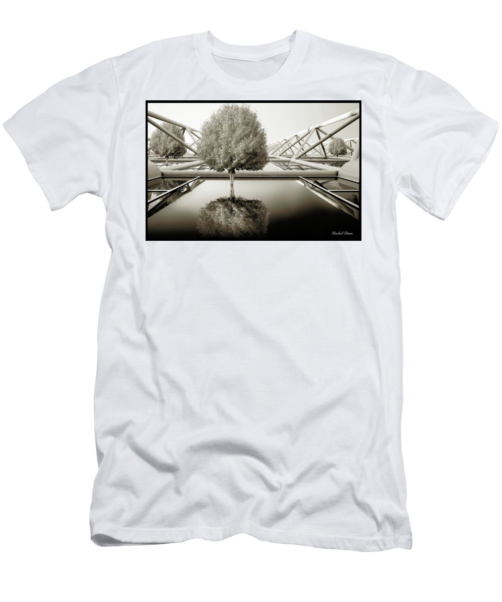 Abstract Men's T-Shirt (Athletic Fit) featuring the photograph Bushy Hair by Rachel Dunn