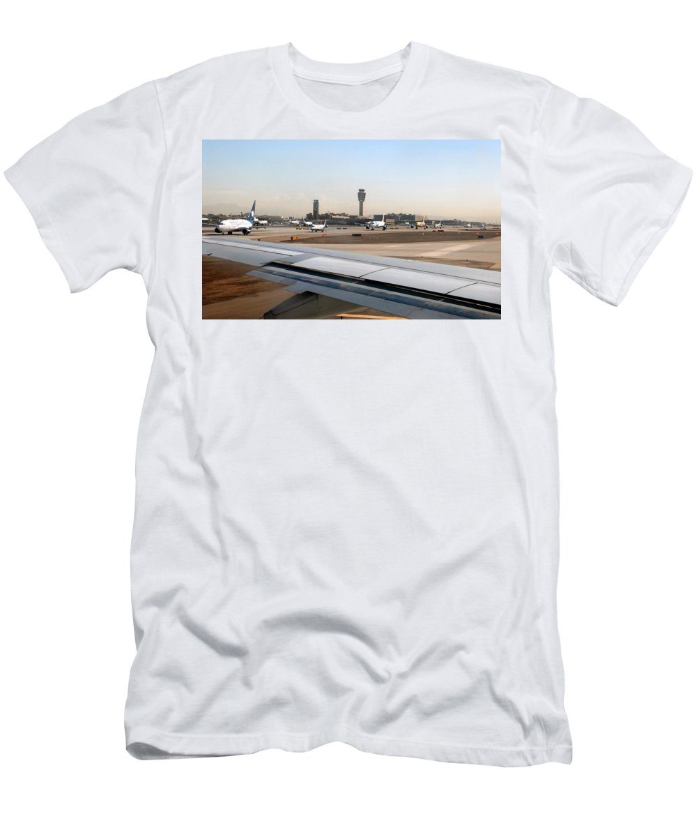 Photography Men's T-Shirt (Athletic Fit) featuring the photograph Busy Day At Sky Harbor by David Lee Thompson