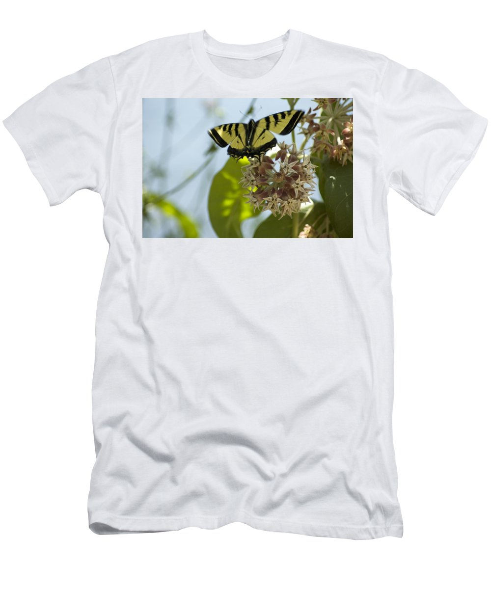 Butterfly Men's T-Shirt (Athletic Fit) featuring the photograph Butterfly 2 by Sara Stevenson