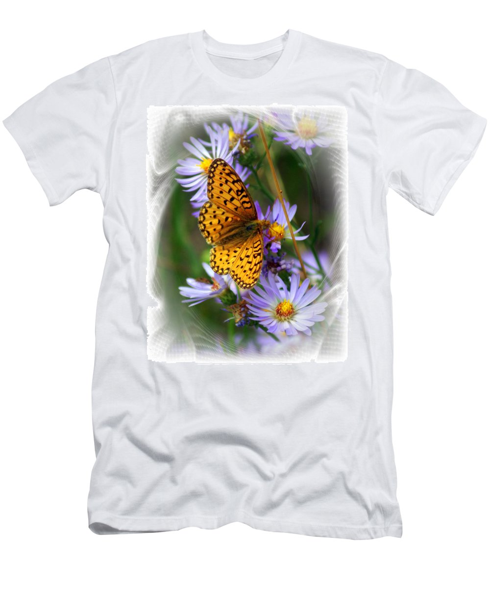 Butterfly Men's T-Shirt (Athletic Fit) featuring the photograph Butterfly Bliss by Marty Koch