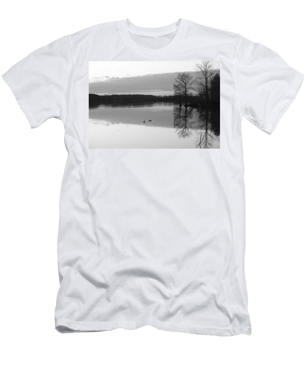 Black Men's T-Shirt (Athletic Fit) featuring the photograph Bw 45 by Ron Emery