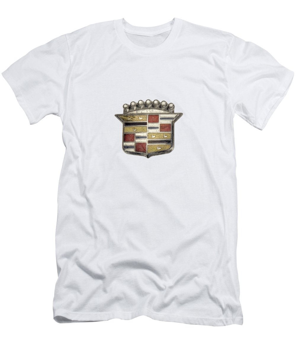Antique Toy T-Shirt featuring the photograph Cadillac Badge by YoPedro