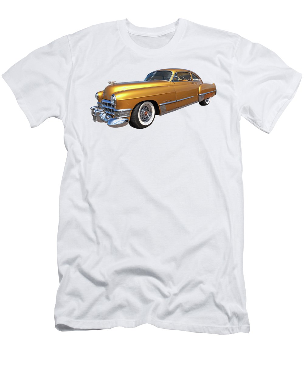 Cadillac Men's T-Shirt (Athletic Fit) featuring the photograph Cadillac Sedanette 1949 by Gill Billington