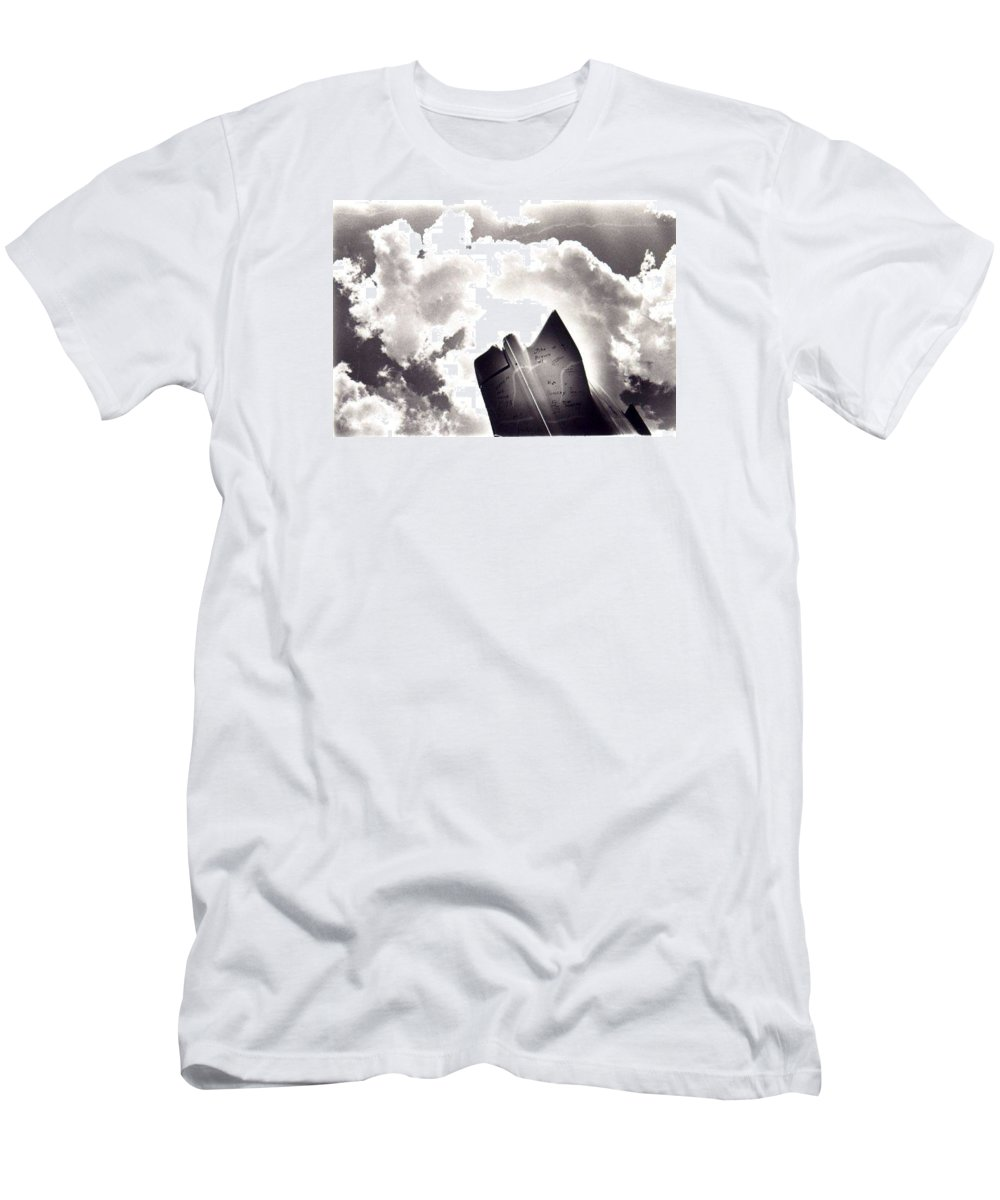 Cadillac Tailfin Men's T-Shirt (Athletic Fit) featuring the photograph Cadillac by Ted M Tubbs