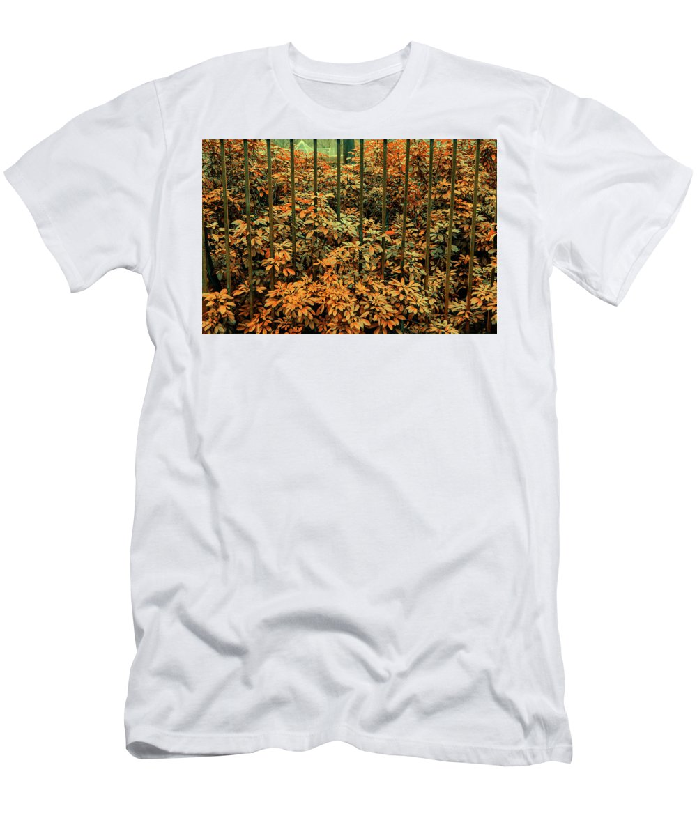 Phtography Men's T-Shirt (Athletic Fit) featuring the photograph Caged by Santiago Arcusa