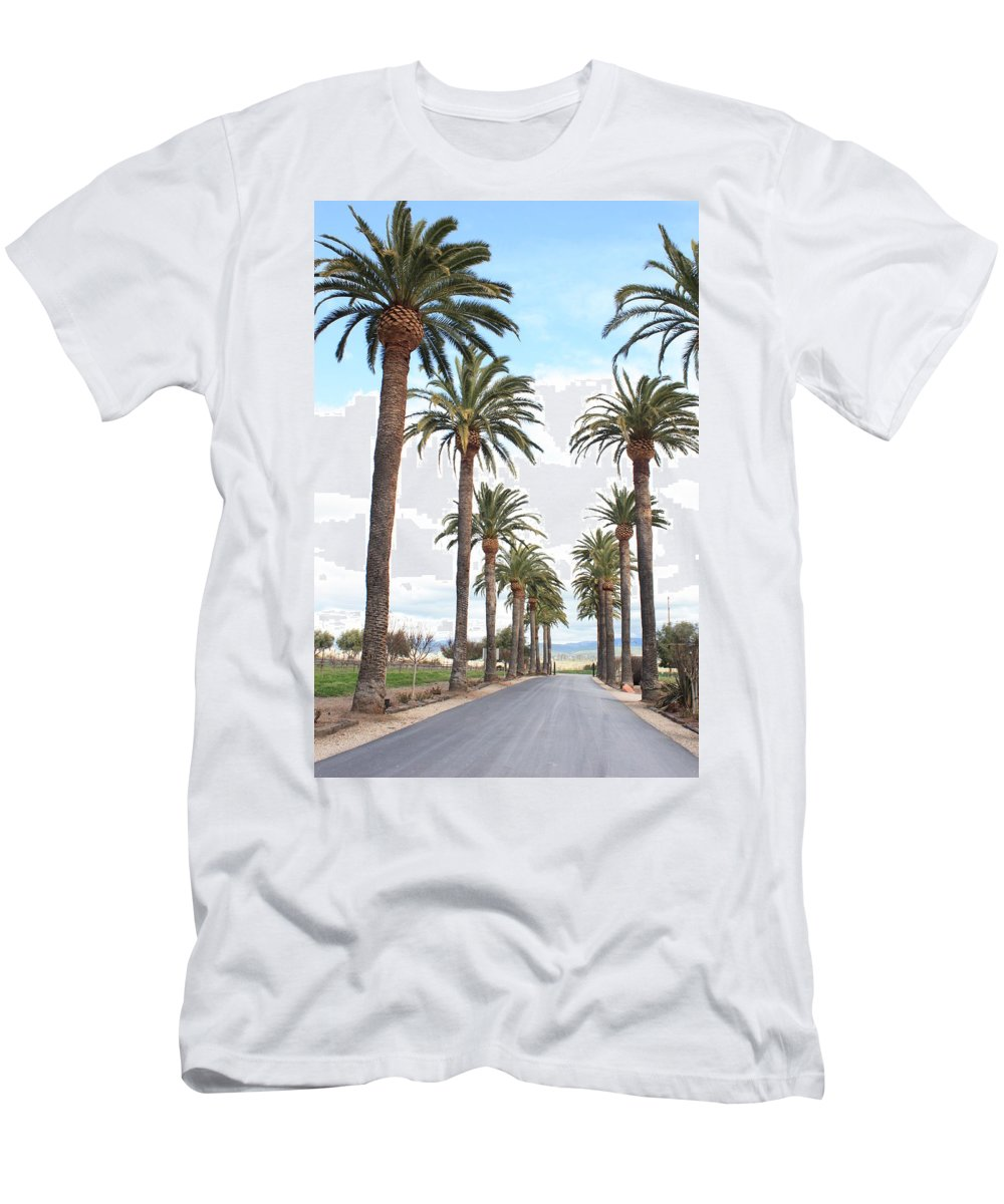Palm Trees Men's T-Shirt (Athletic Fit) featuring the photograph California Dreaming by Carol Groenen