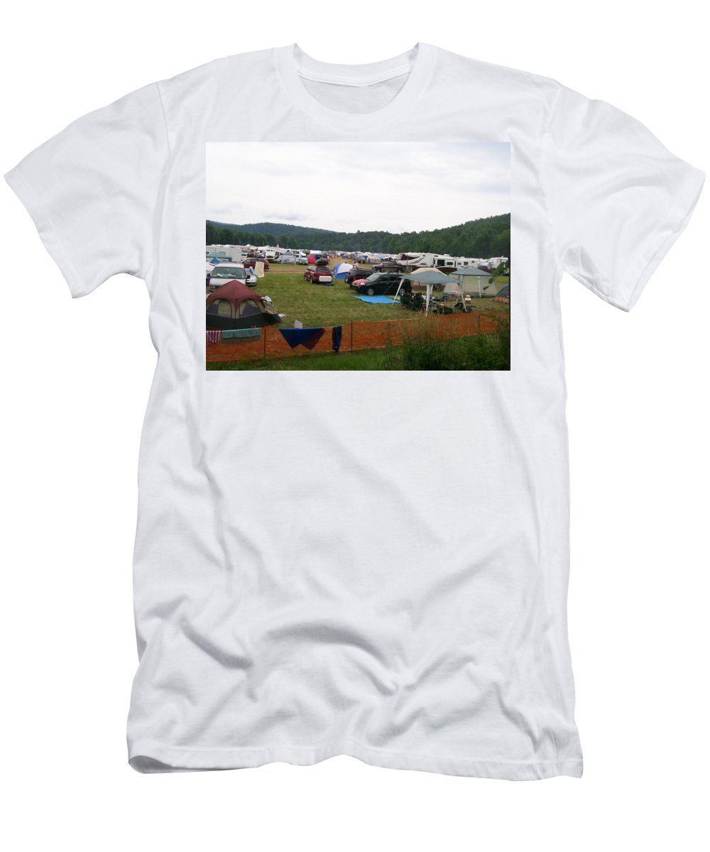 Creationfest Men's T-Shirt (Athletic Fit) featuring the photograph Camp Out by R Chambers