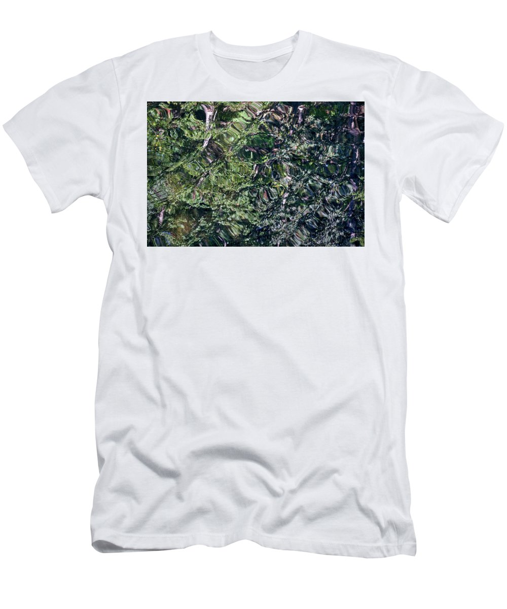 Abstract Men's T-Shirt (Athletic Fit) featuring the photograph Canal Reflections Abstract by Stuart Litoff