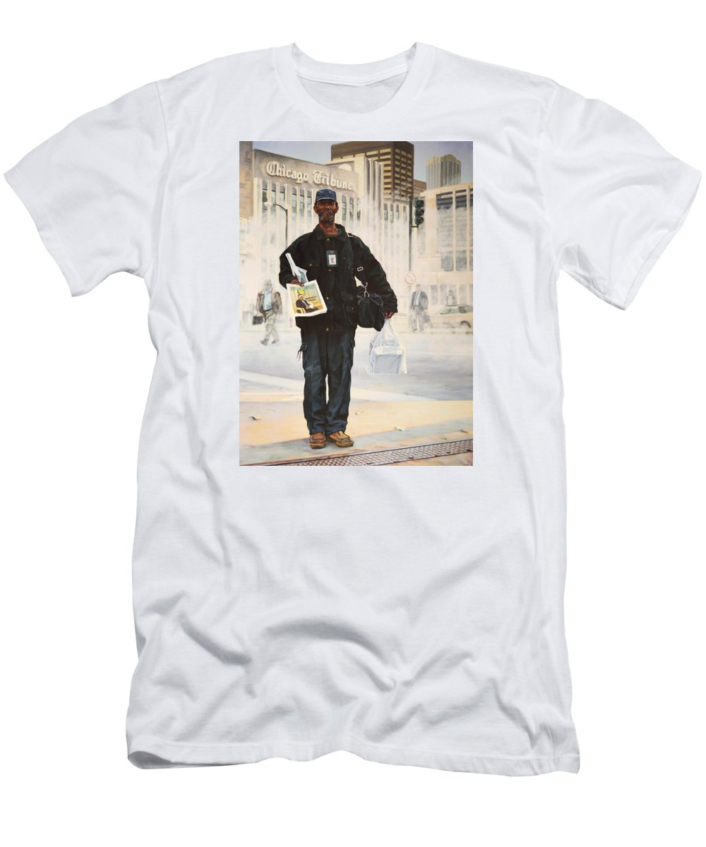 Portrait Men's T-Shirt (Athletic Fit) featuring the painting Canopy by Kenneth Cobb