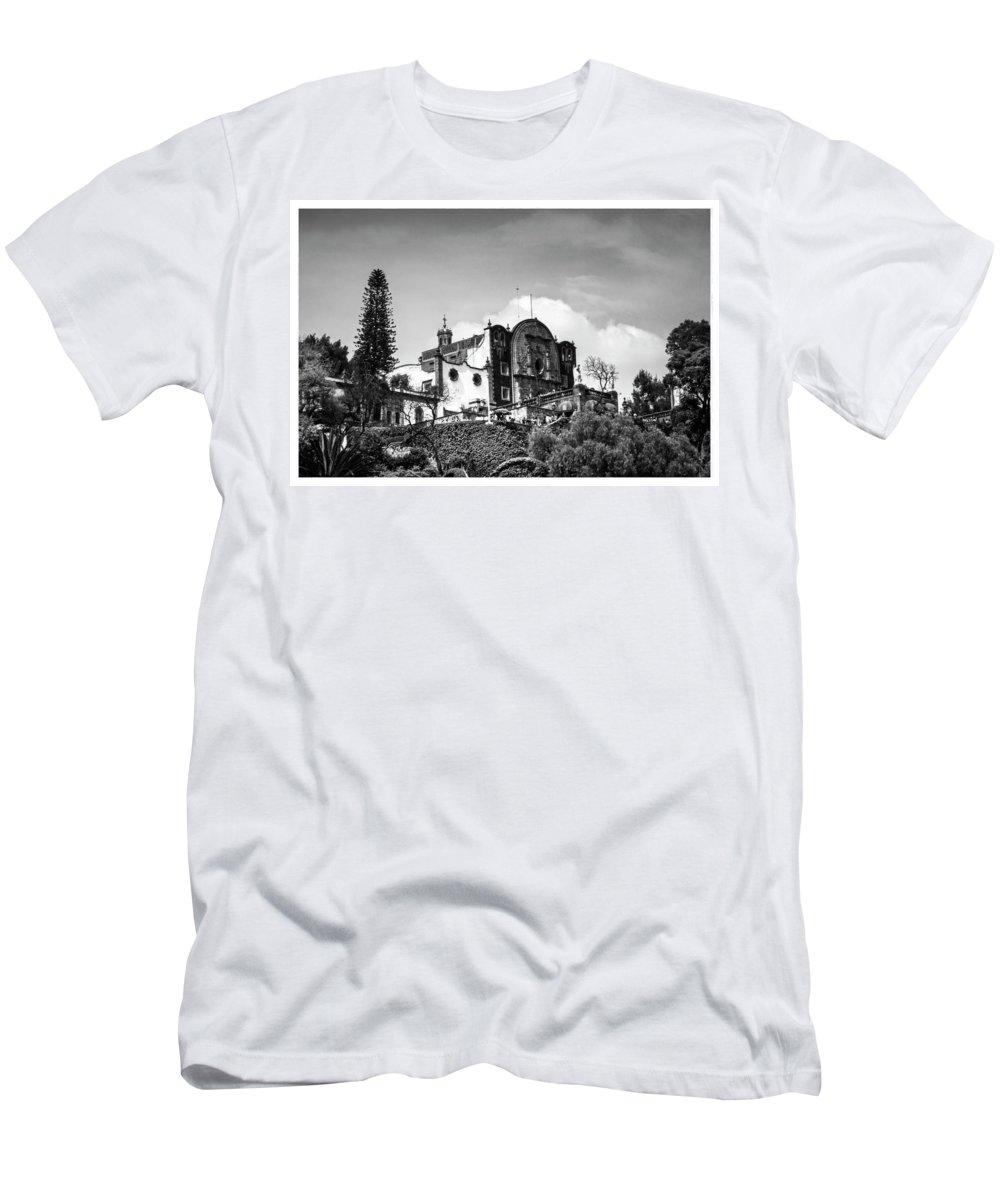Basilica De Guadalupe Men's T-Shirt (Athletic Fit) featuring the photograph Capilla Del Cerrito - Basilica De Guadalupe - Mexico City I by Totto Ponce