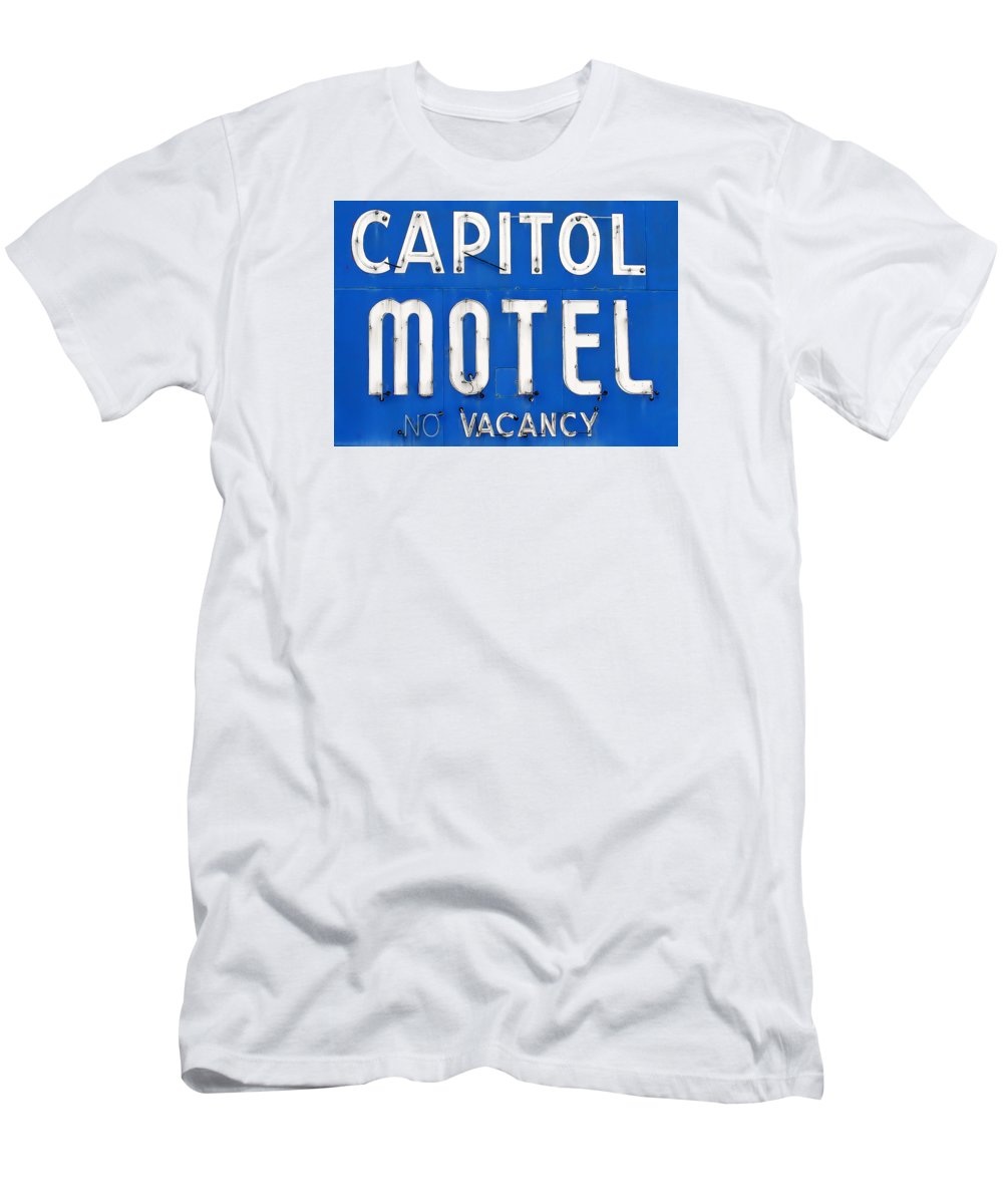 Capitol Motel T-Shirt featuring the photograph Capitol Sign by Todd Klassy