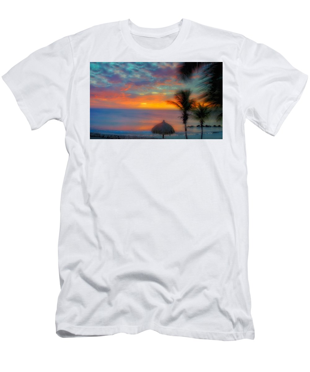Sunset Men's T-Shirt (Athletic Fit) featuring the photograph Caribbean Dreams by Stephen Anderson