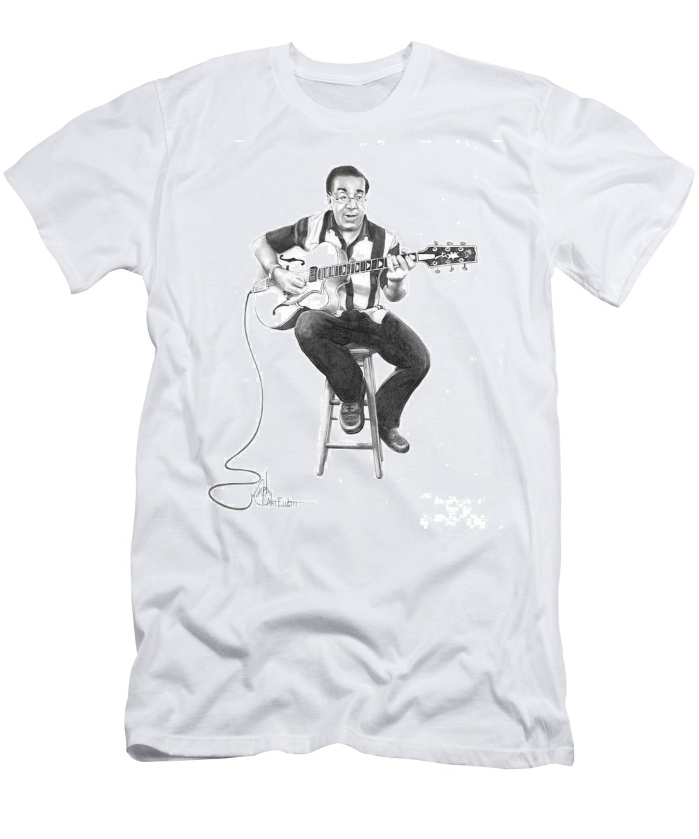 Drawing Men's T-Shirt (Athletic Fit) featuring the drawing Carmine D'amico by Murphy Elliott