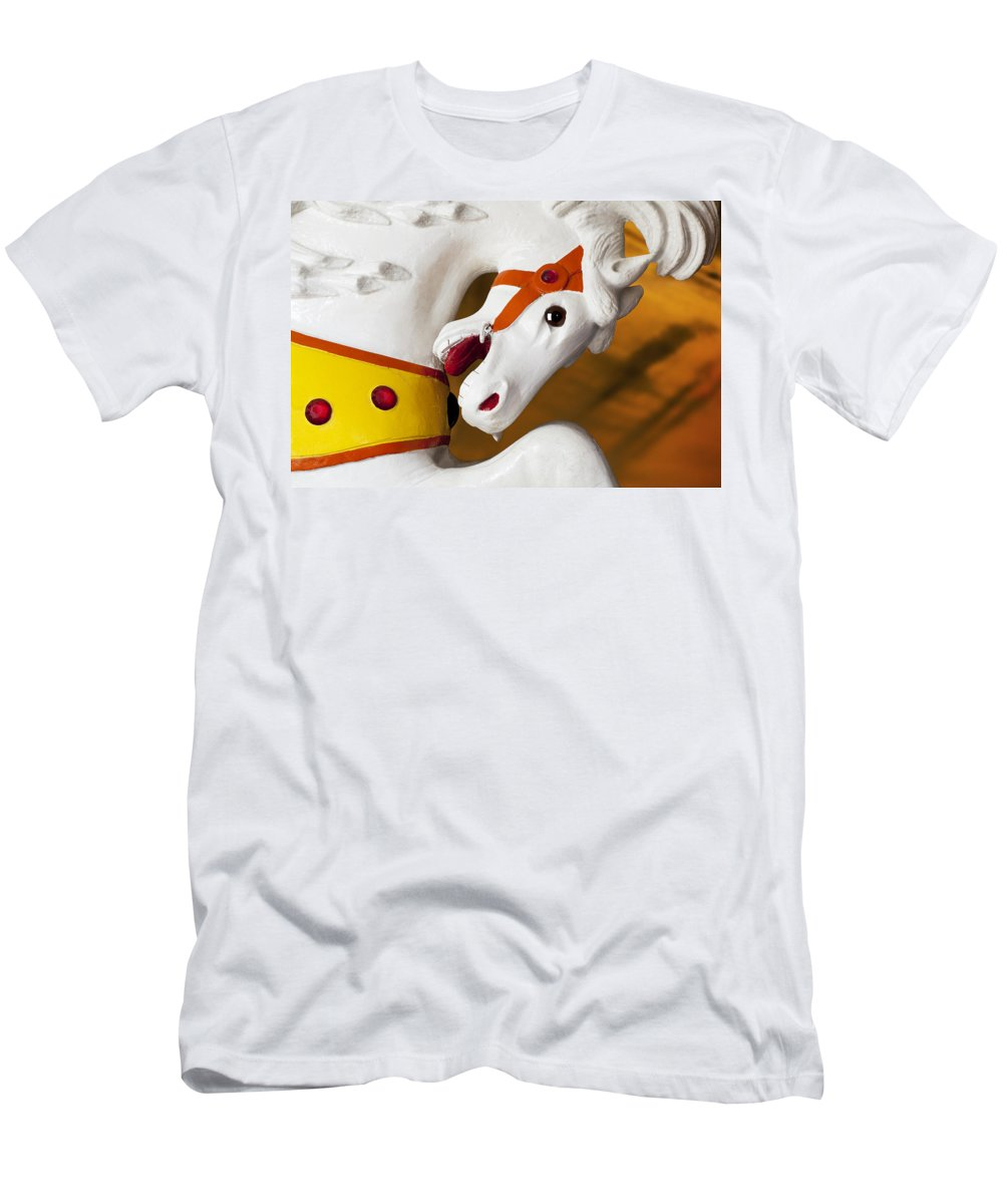 Carousel Men's T-Shirt (Athletic Fit) featuring the photograph Carousel Horse 1 by Kelley King