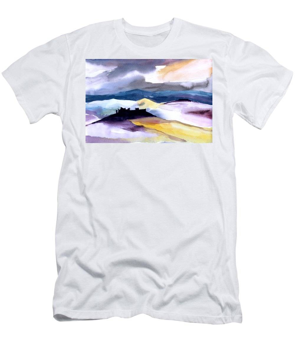 Water Men's T-Shirt (Athletic Fit) featuring the painting Castle by Anil Nene
