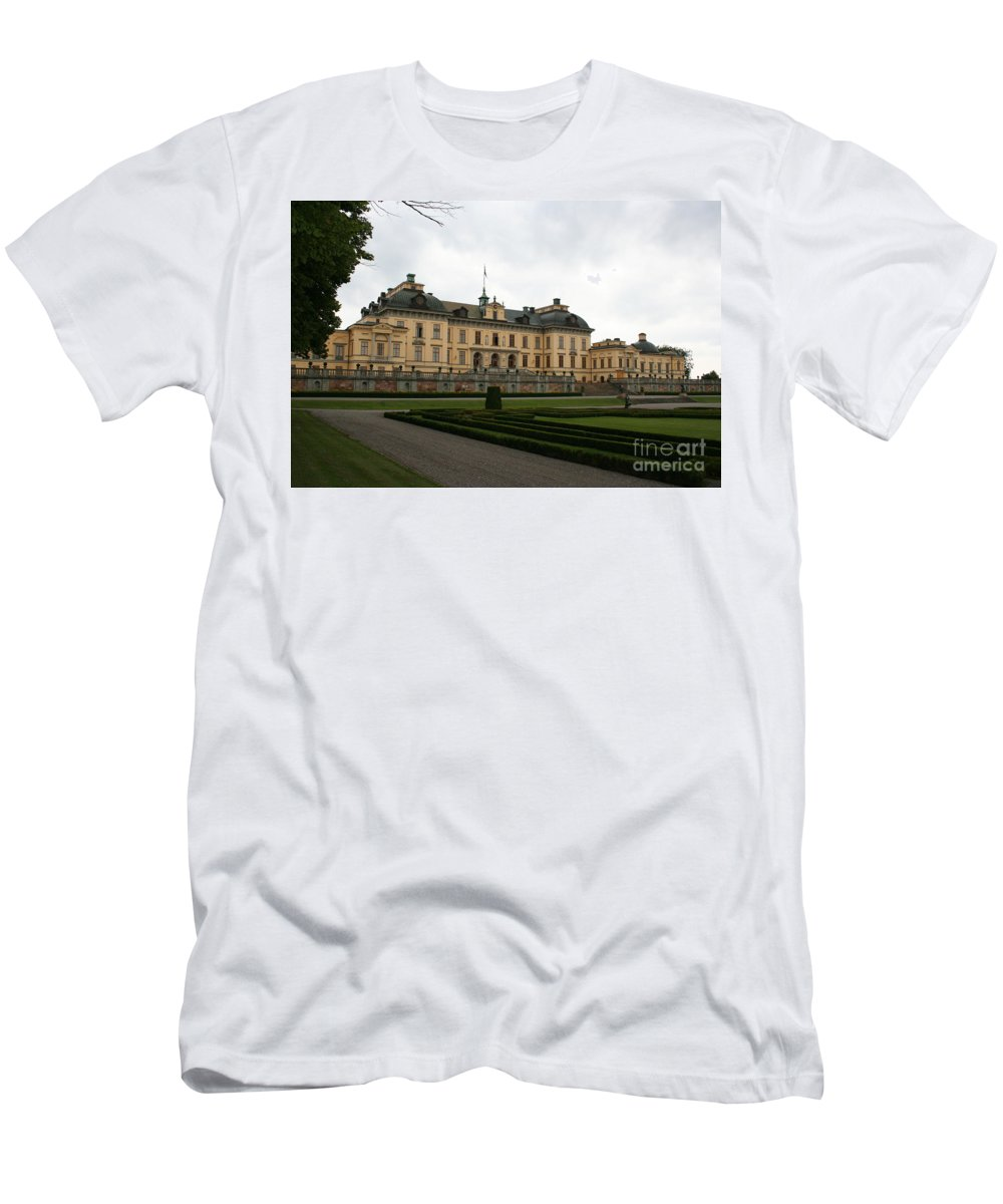 Castle Men's T-Shirt (Athletic Fit) featuring the photograph Castle Drottningholm by Christiane Schulze Art And Photography
