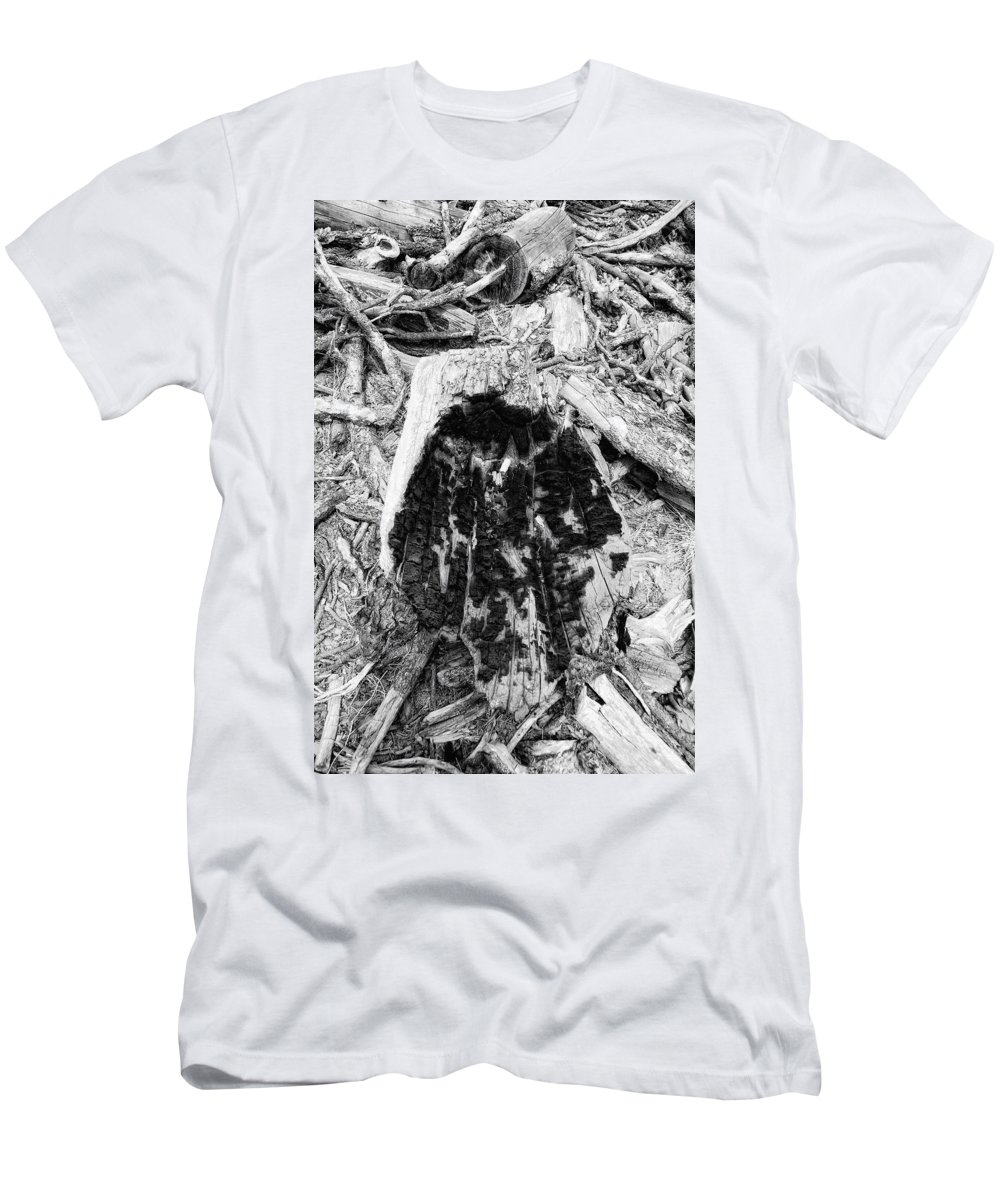 Woo Men's T-Shirt (Athletic Fit) featuring the photograph Catastrophe by Donna Blackhall