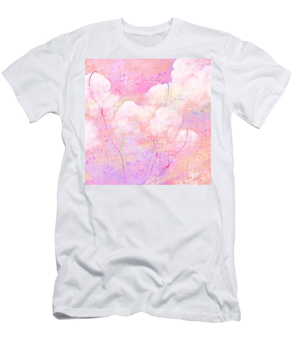 Abstract Men's T-Shirt (Athletic Fit) featuring the digital art Catching Clouds by Rachel Christine Nowicki