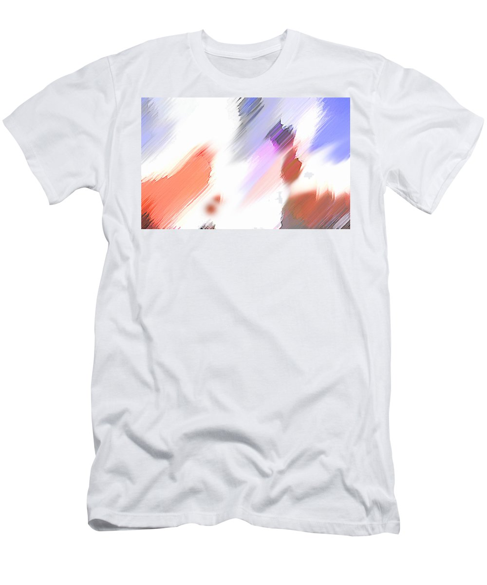 Digital Art Water Color Watercolor Light Color Men's T-Shirt (Athletic Fit) featuring the painting Celebration by Anil Nene