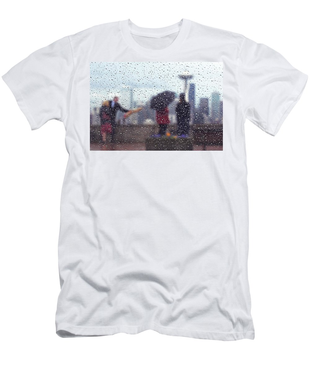 Seattle Men's T-Shirt (Athletic Fit) featuring the photograph Celebration In Rain A036 by Yoshiki Nakamura