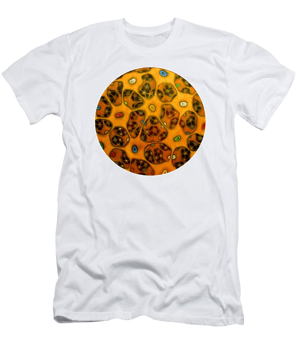 Cells Men's T-Shirt (Athletic Fit) featuring the drawing Cell Network by Nancy Mueller
