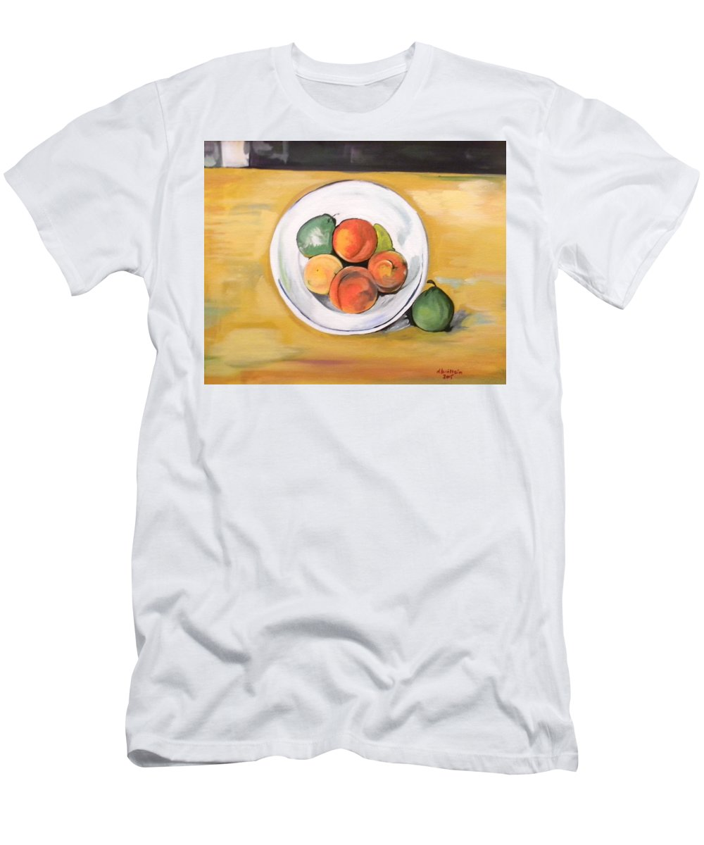 Fruit Men's T-Shirt (Athletic Fit) featuring the painting Cezannes Fruit Bowl by Dolores Brittain