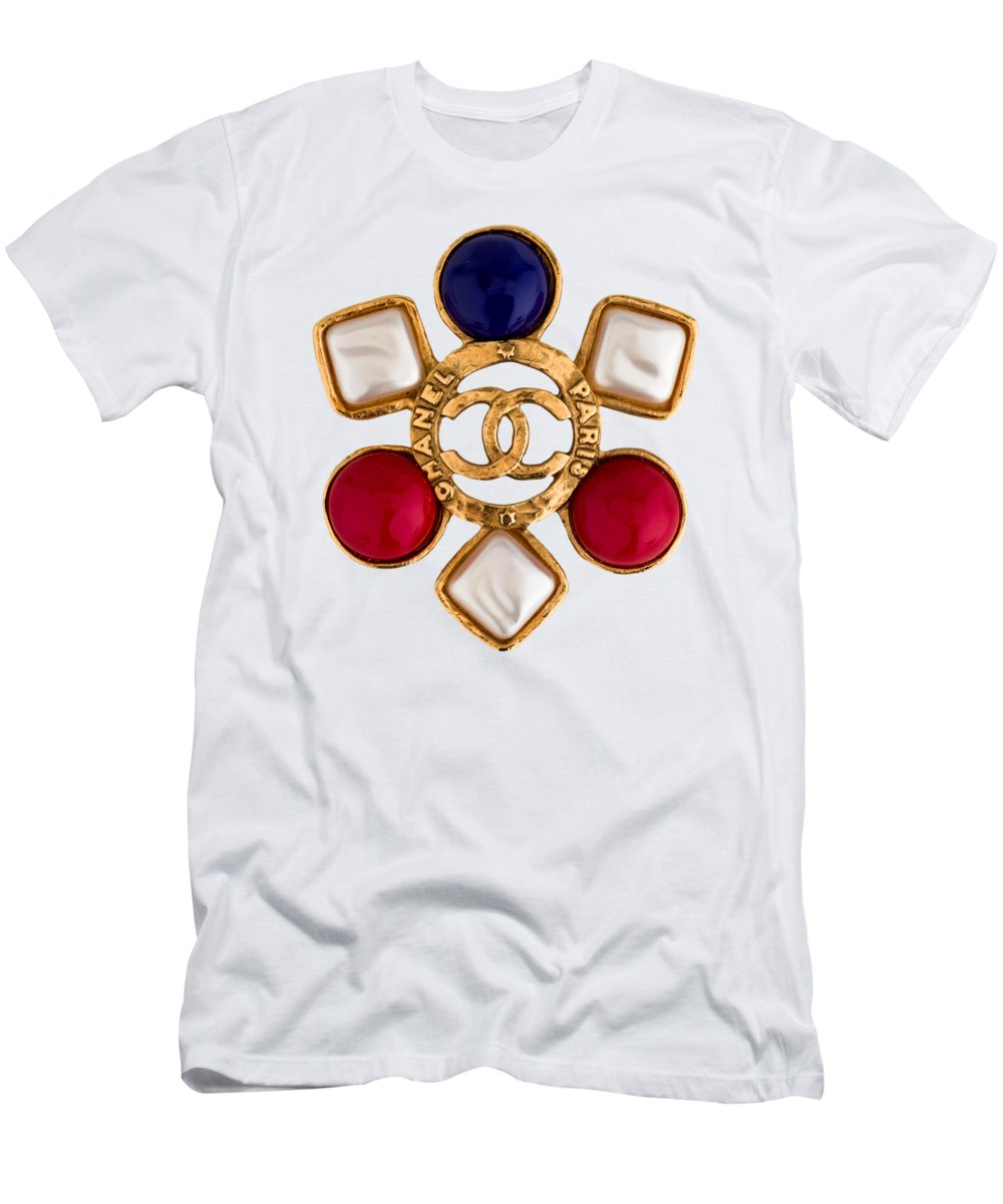 Chanel Men's T-Shirt (Athletic Fit) featuring the painting Chanel Jewelry-14 by Nikita