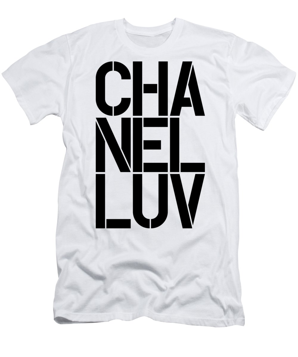 Chanel Men's T-Shirt (Athletic Fit) featuring the painting Chanel Luv-1 by Nikita