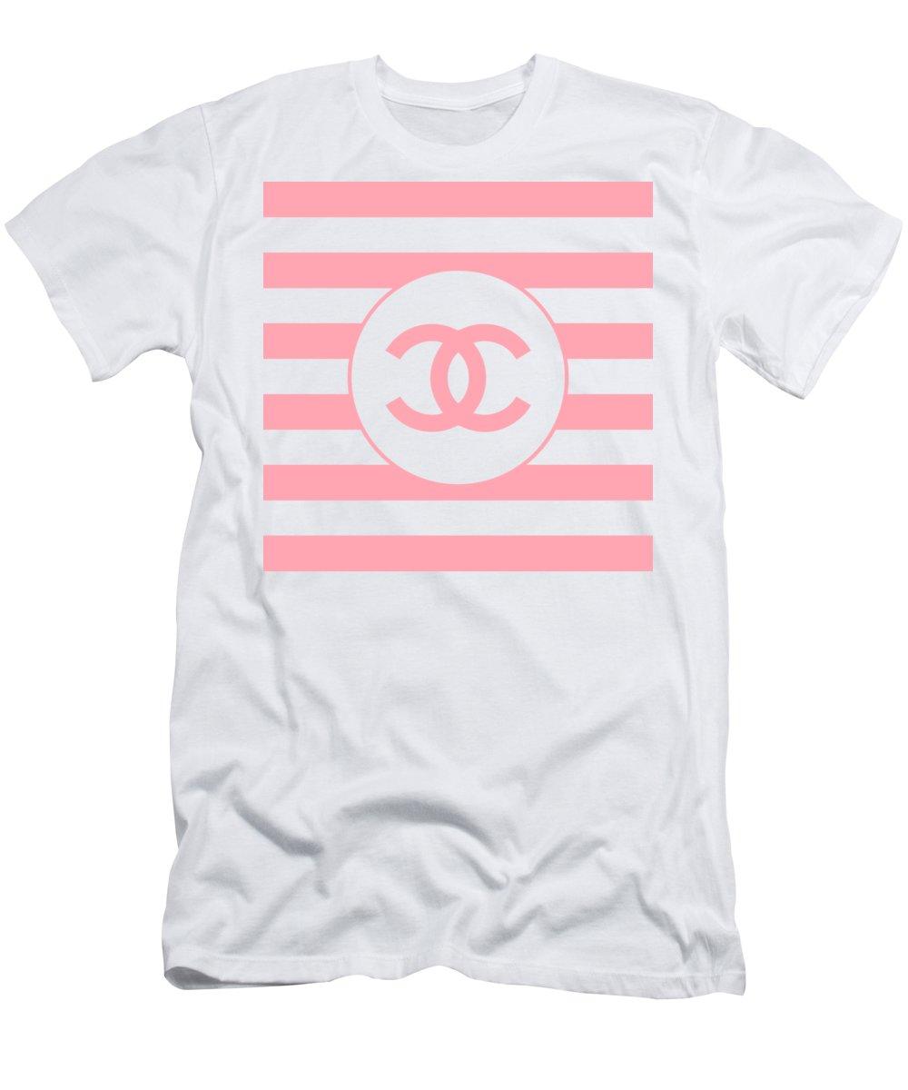 Pink And White Digital Art T-Shirts
