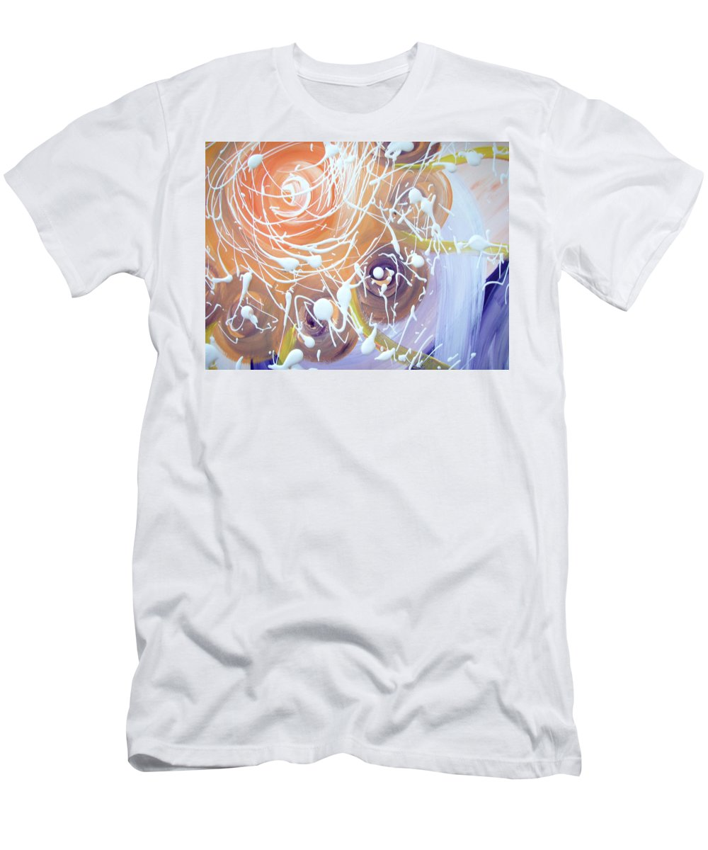 Changing Energy Men's T-Shirt (Athletic Fit) featuring the painting Changing Energy Section by Catt Kyriacou