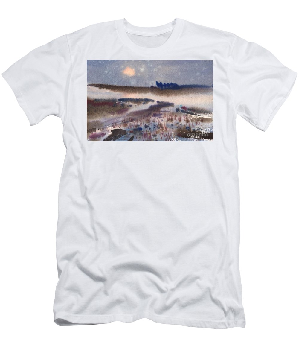 Snow Men's T-Shirt (Athletic Fit) featuring the painting Changing Seasons by Donald Maier