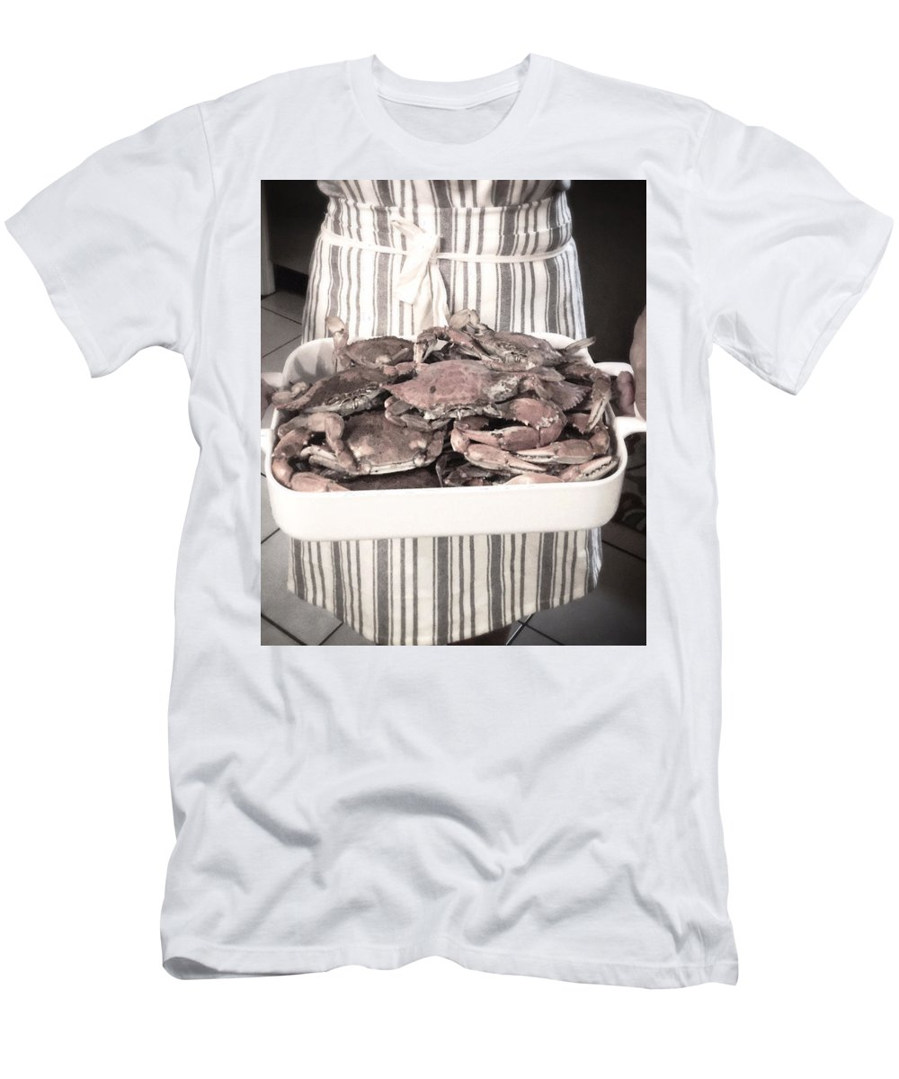 Men's T-Shirt (Athletic Fit) featuring the photograph Charleston Crab Boil by Karen Dawson
