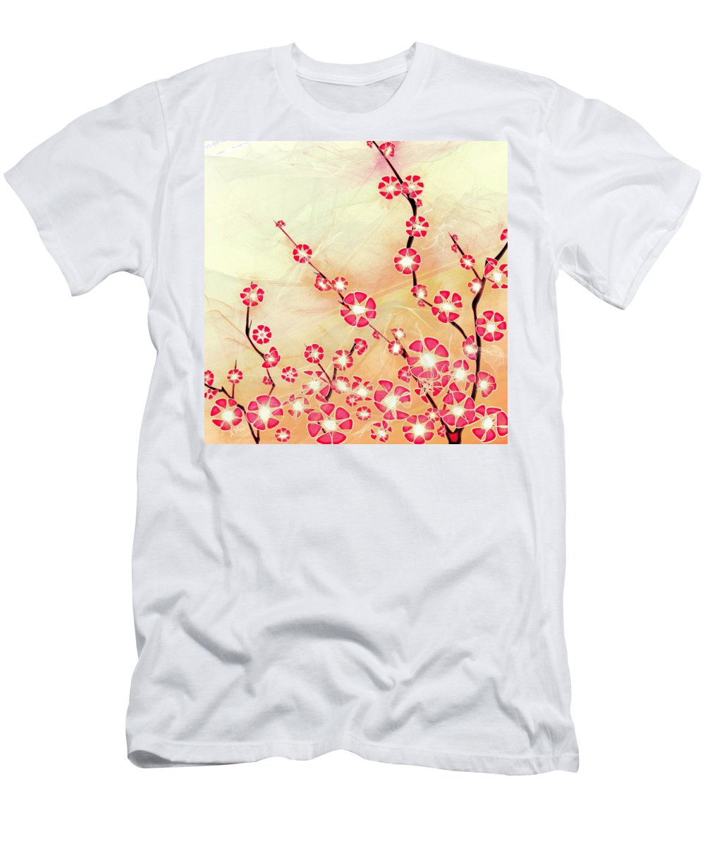 Decorative T-Shirt featuring the digital art Cherry Blossom by Anastasiya Malakhova