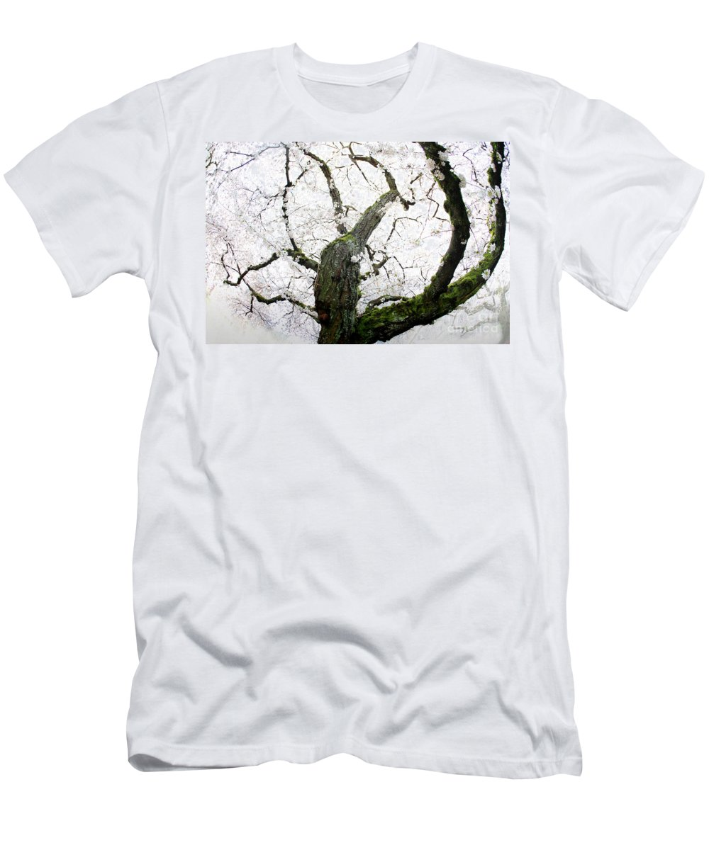 Cherry Blossoms Men's T-Shirt (Athletic Fit) featuring the photograph Cherry Blossoms by Peter Simmons