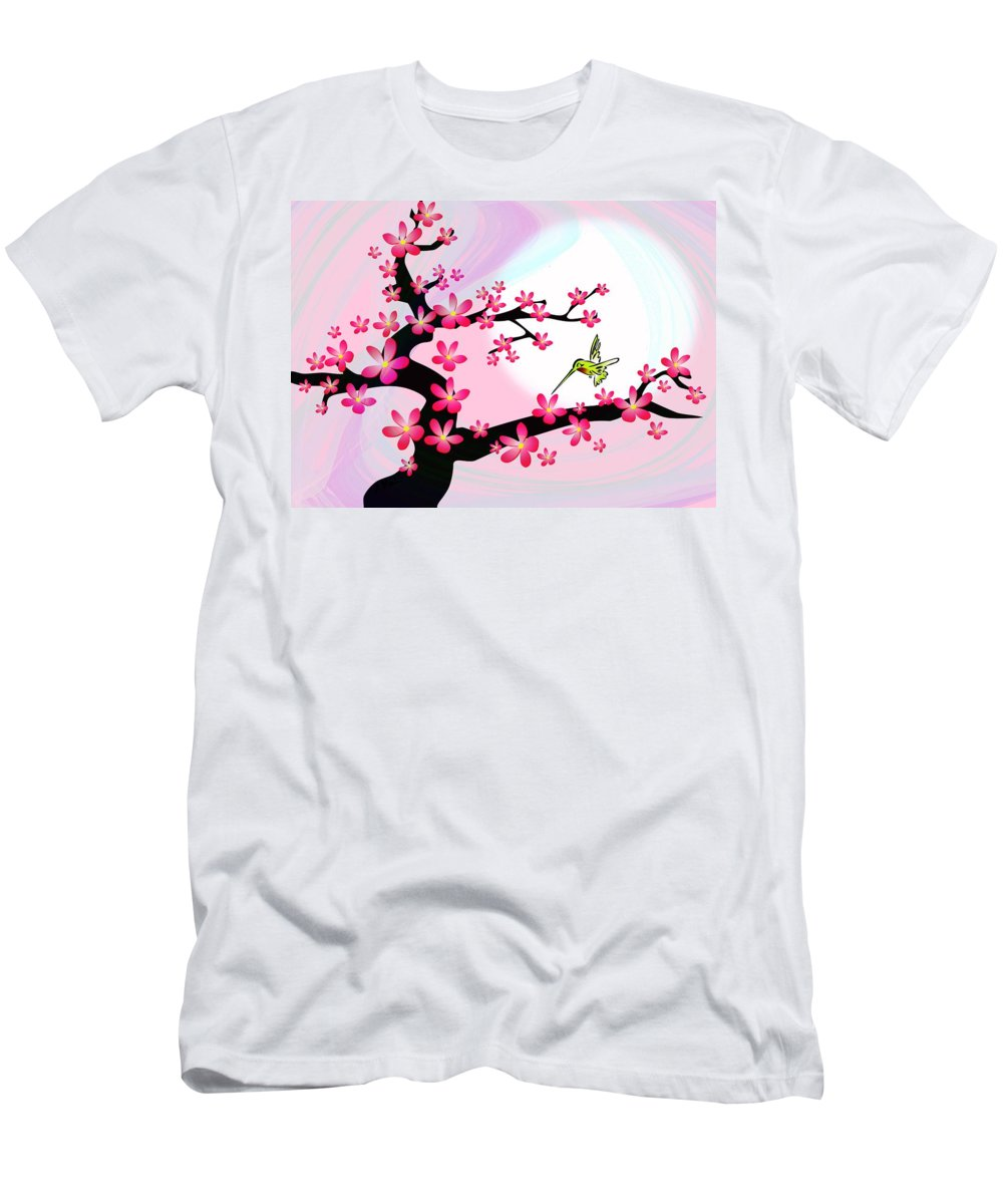 Cherry Men's T-Shirt (Athletic Fit) featuring the digital art Cherry Tree by Anastasiya Malakhova