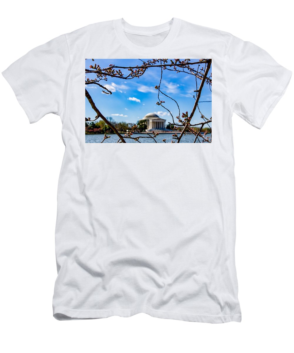Cherry Tree Men's T-Shirt (Athletic Fit) featuring the photograph Cherry Tree Buds by Carol Ward