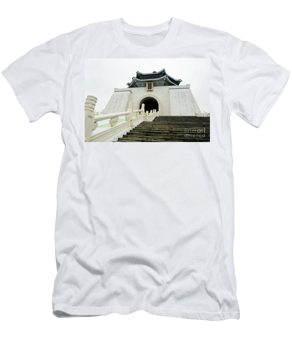 Angle Men's T-Shirt (Athletic Fit) featuring the photograph Chiang Kai-shek Memorial Park by Bill Brennan - Printscapes