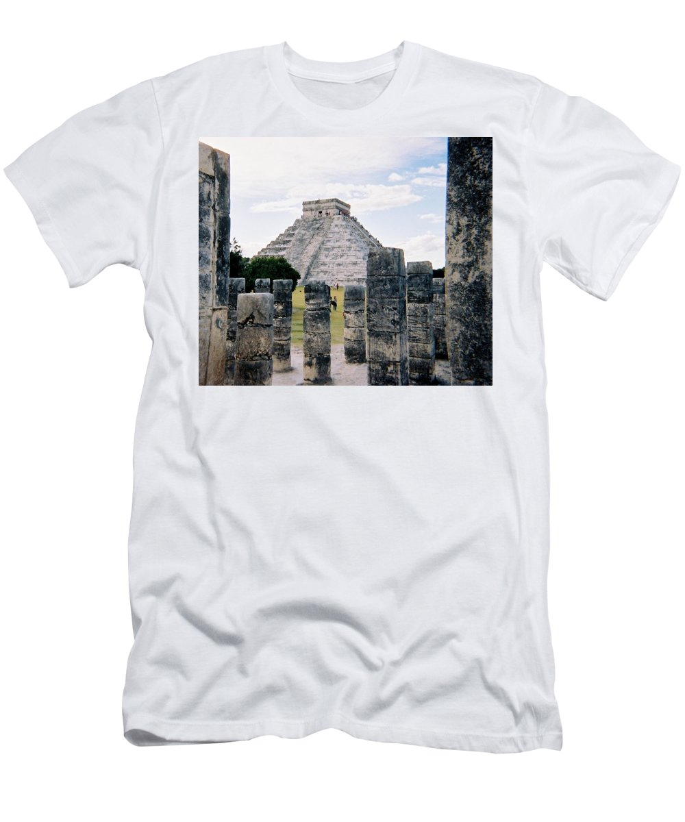 Chitchen Itza Men's T-Shirt (Athletic Fit) featuring the photograph Chichen Itza 3 by Anita Burgermeister